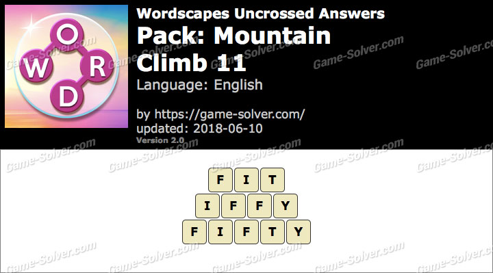 Wordscapes Uncrossed Mountain-Climb 11 Answers
