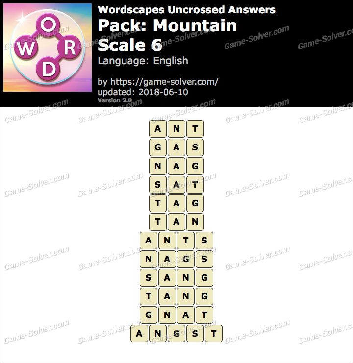 Wordscapes Uncrossed Mountain-Scale 6 Answers