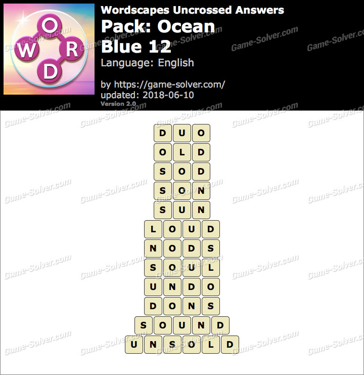 Wordscapes Uncrossed Ocean-Blue 12 Answers