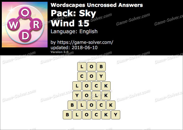 Wordscapes Uncrossed Sky-Wind 15 Answers