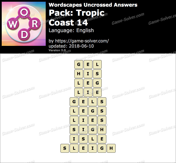 Wordscapes Uncrossed Tropic-Coast 14 Answers