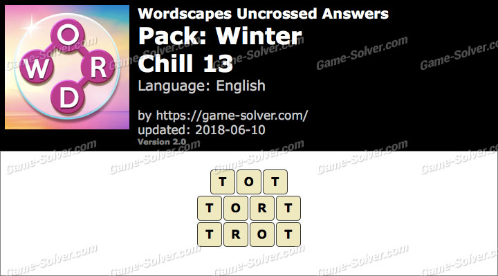 Wordscapes Uncrossed Winter-Chill 13 Answers