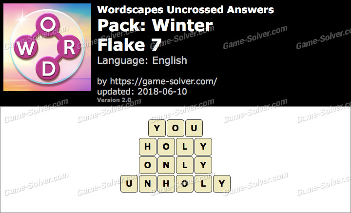 Wordscapes Uncrossed Winter-Flake 7 Answers