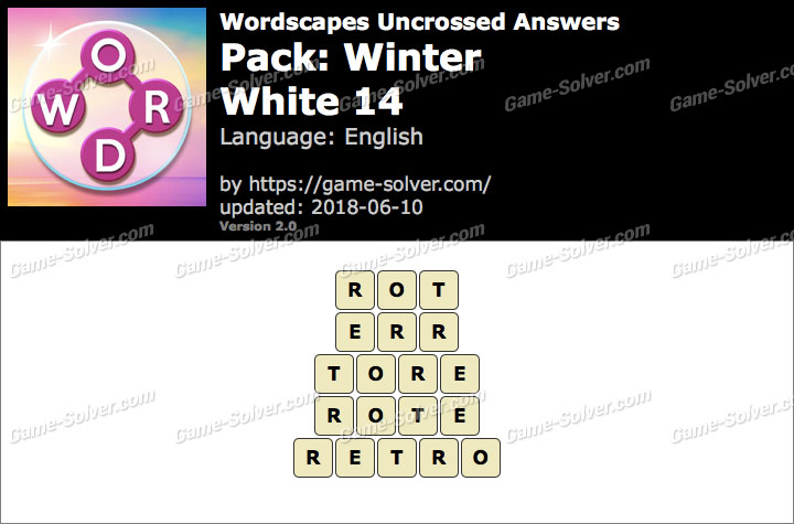 Wordscapes Uncrossed Winter-White 14 Answers