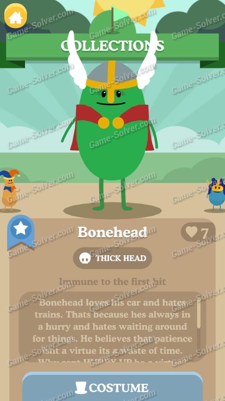 Dumb Ways To Die 3 Characters-Bonehead