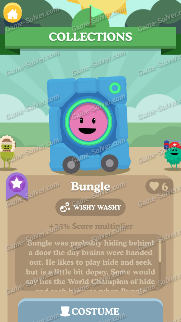 Dumb Ways To Die 3 Characters-Bungle