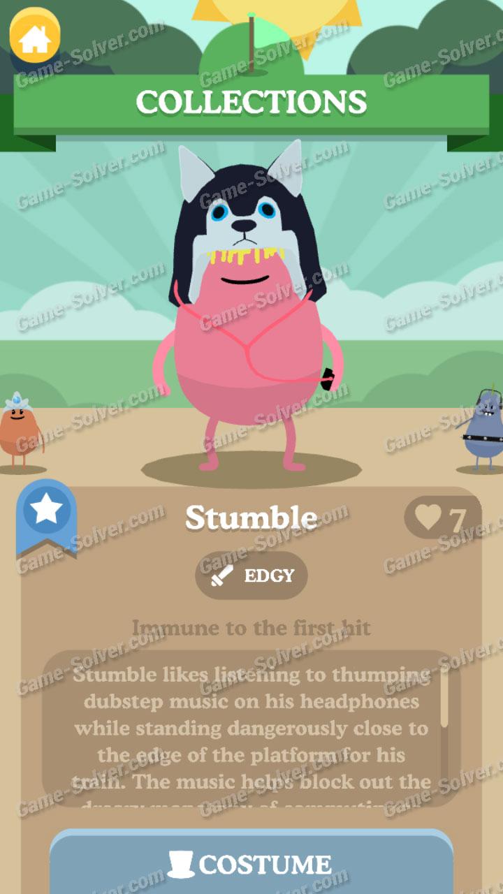 Dumb Ways To Die 3 Characters-Stumble