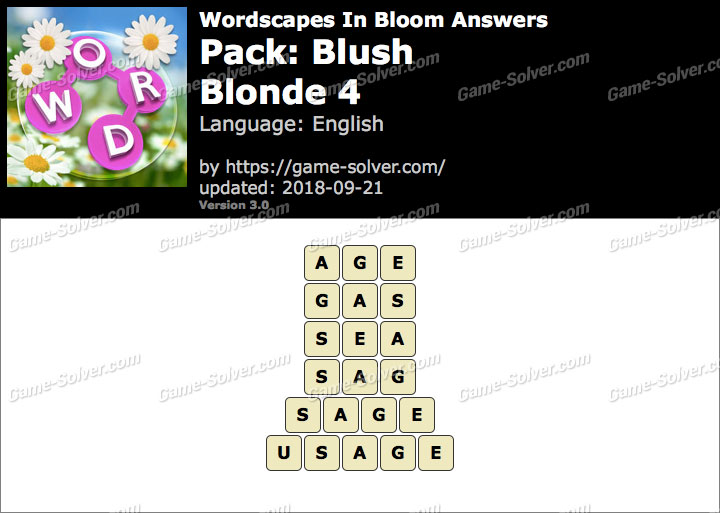 Wordscapes In Bloom Blush-Blonde 4 Answers