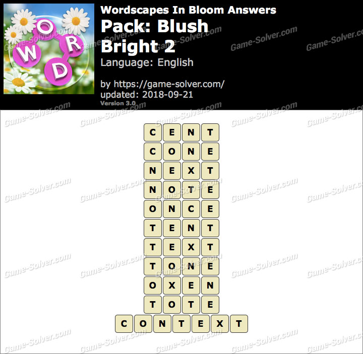Wordscapes In Bloom Blush-Bright 2 Answers