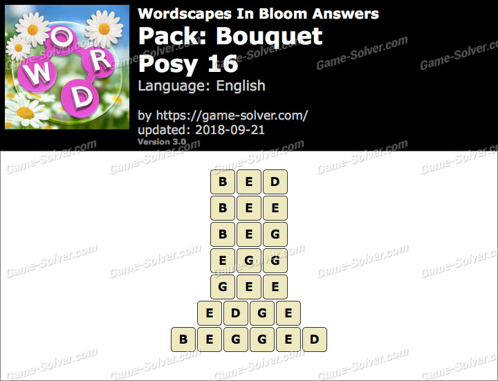 Wordscapes In Bloom Bouquet-Posy 16 Answers