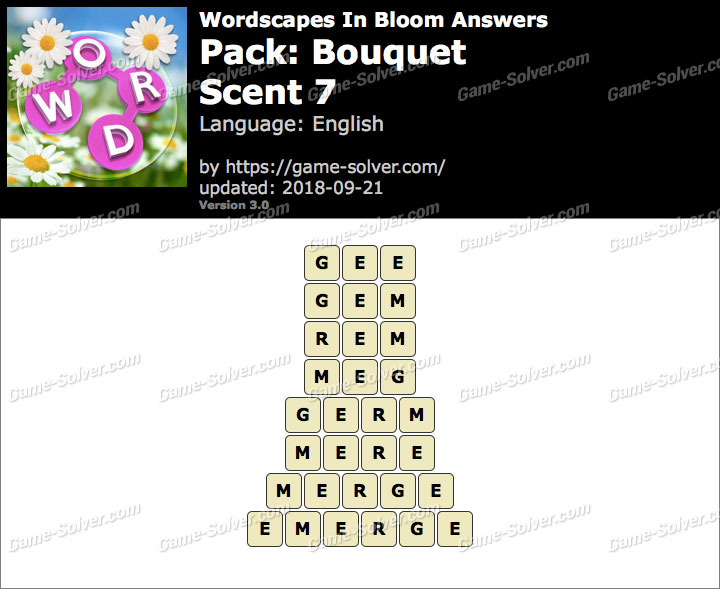Wordscapes In Bloom Bouquet-Scent 7 Answers