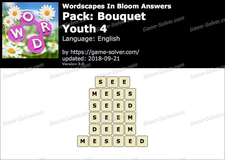 Wordscapes In Bloom Bouquet-Youth 4 Answers