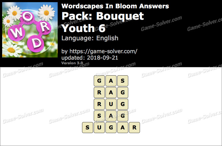Wordscapes In Bloom Bouquet-Youth 6 Answers
