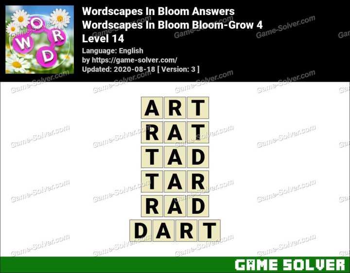 Wordscapes In Bloom Fields-Buff 14 Answers
