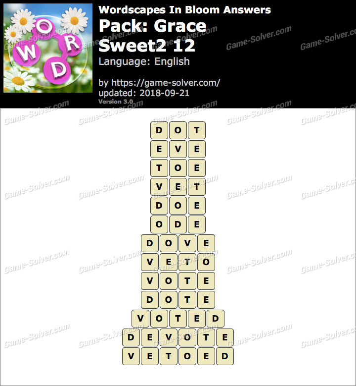 Wordscapes In Bloom Grace-Sweet2 12 Answers
