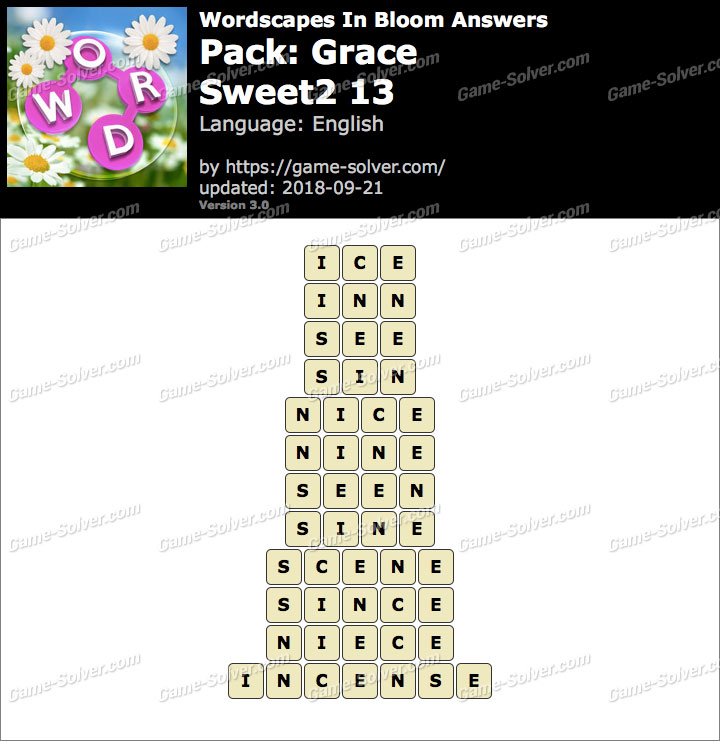 Wordscapes In Bloom Grace-Sweet2 13 Answers
