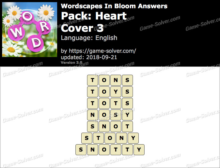 Wordscapes In Bloom Heart-Cover 3 Answers