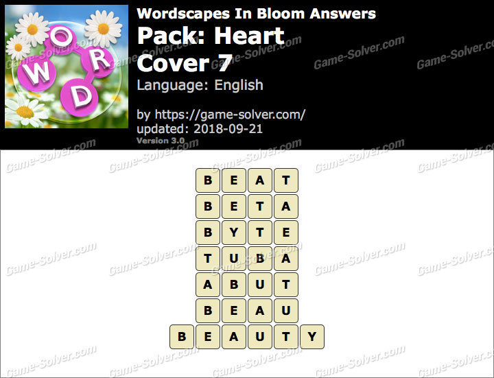 Wordscapes In Bloom Heart-Cover 7 Answers