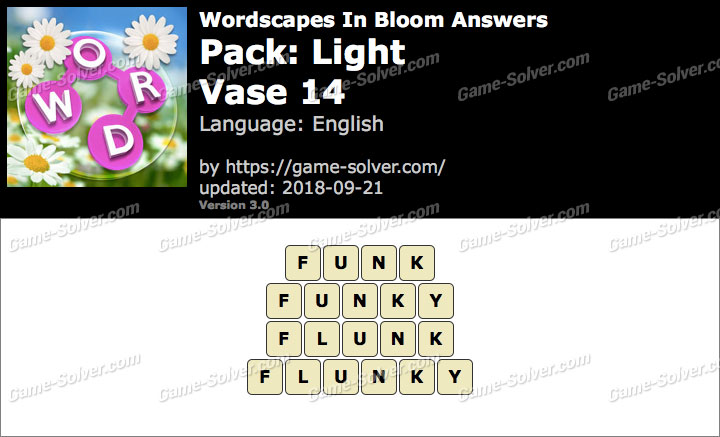 Wordscapes In Bloom Light-Vase 14 Answers