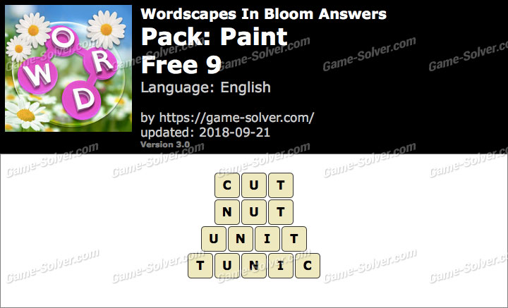 Wordscapes In Bloom Paint-Free 9 Answers