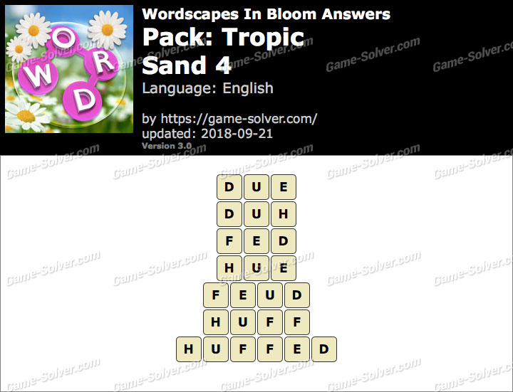 Wordscapes In Bloom Tropic-Sand 4 Answers
