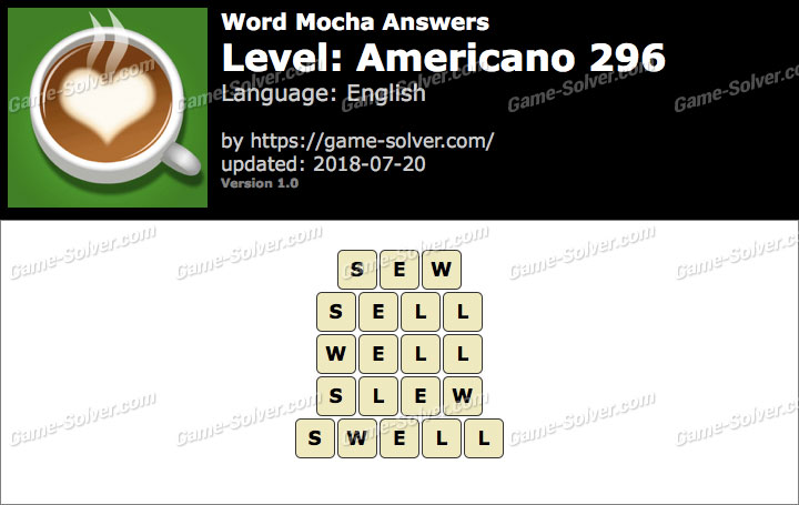 Word Mocha Americano 296 Answers