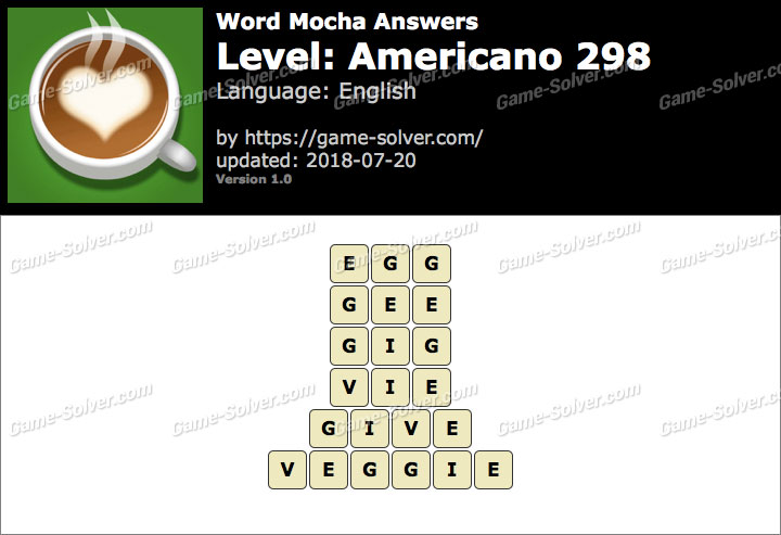 Word Mocha Americano 298 Answers