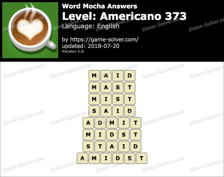 Word Mocha Americano 373 Answers