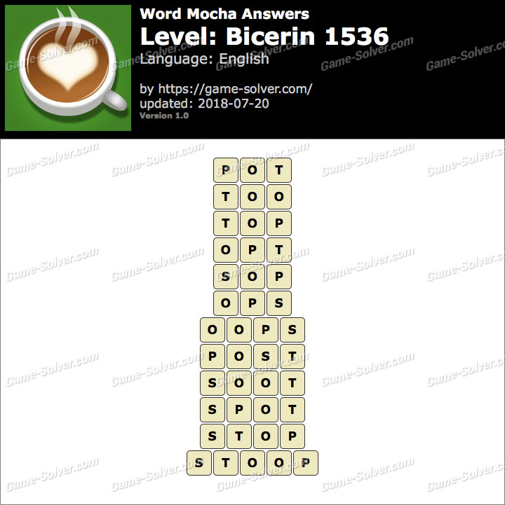 Word Mocha Bicerin 1536 Answers