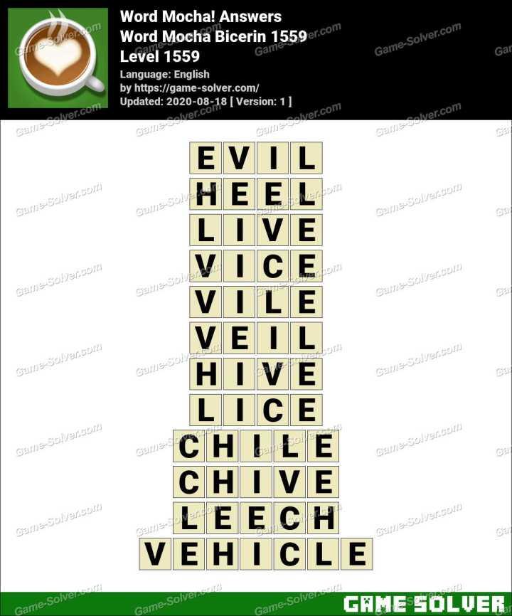 Word Mocha Bicerin 1559 Answers
