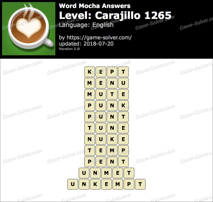 Word Mocha Carajillo 1265 Answers