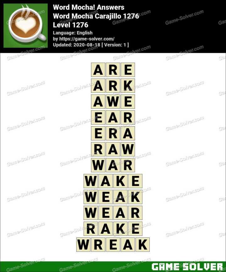 Word Mocha Carajillo 1276 Answers
