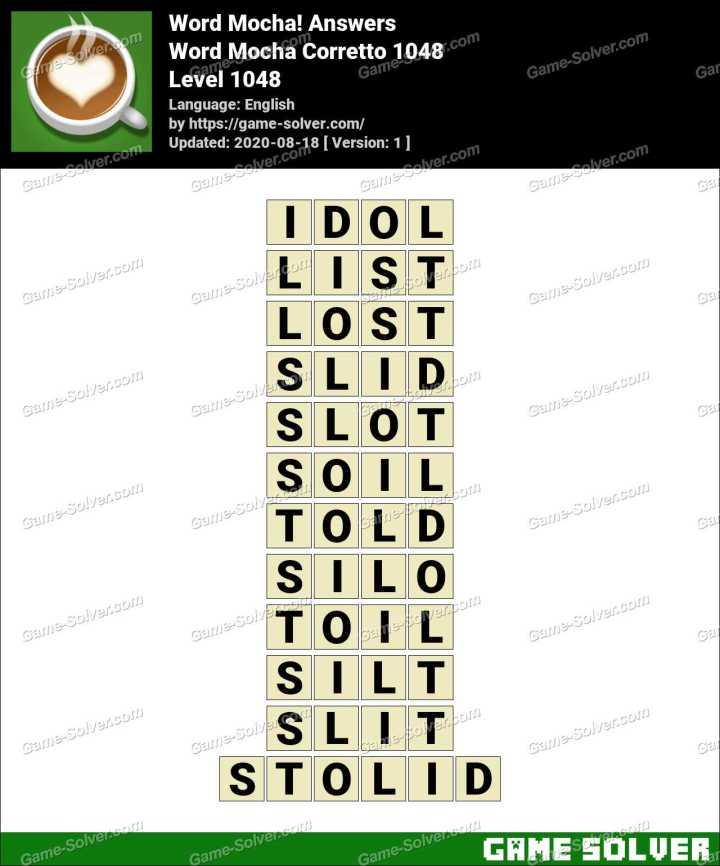 Word Mocha Corretto 1048 Answers