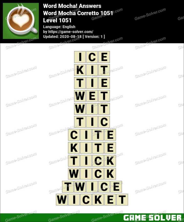Word Mocha Corretto 1051 Answers