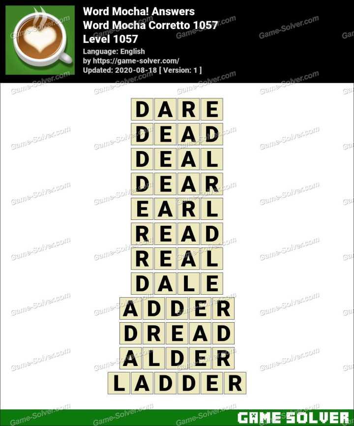 Word Mocha Corretto 1057 Answers