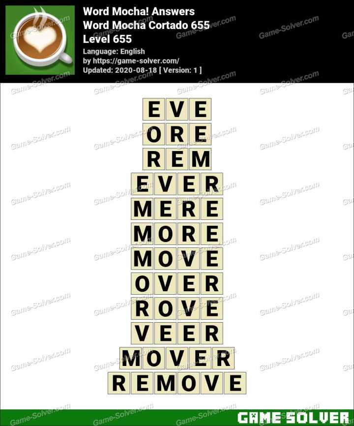 Word Mocha Cortado 655 Answers