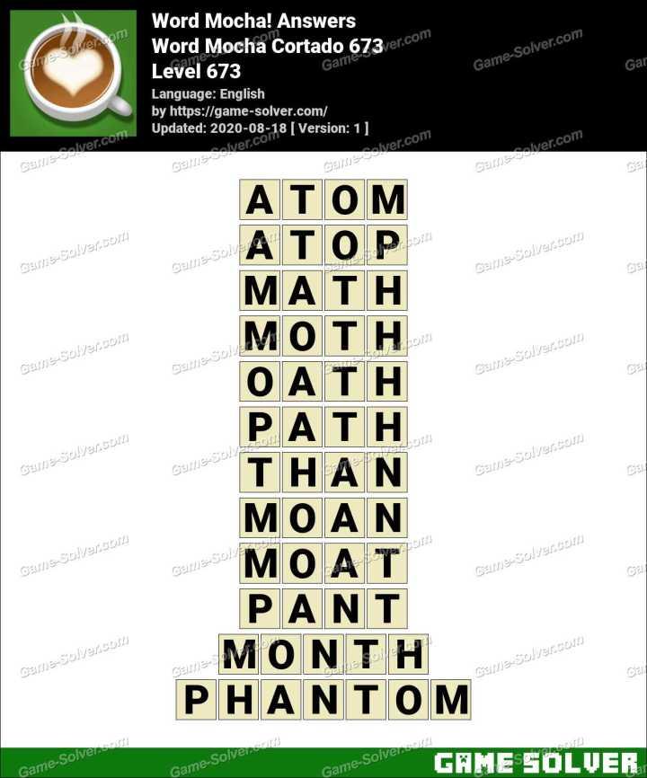 Word Mocha Cortado 673 Answers
