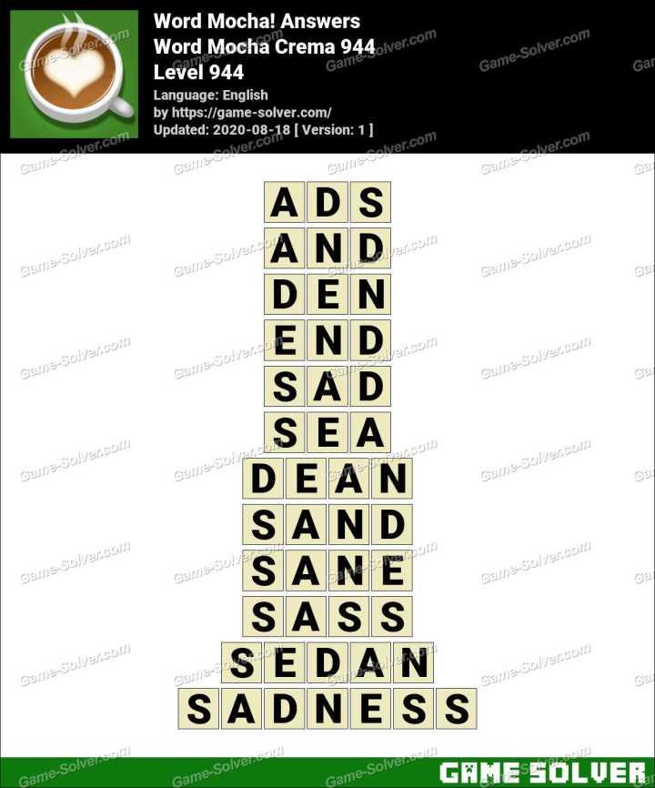 Word Mocha Crema 944 Answers