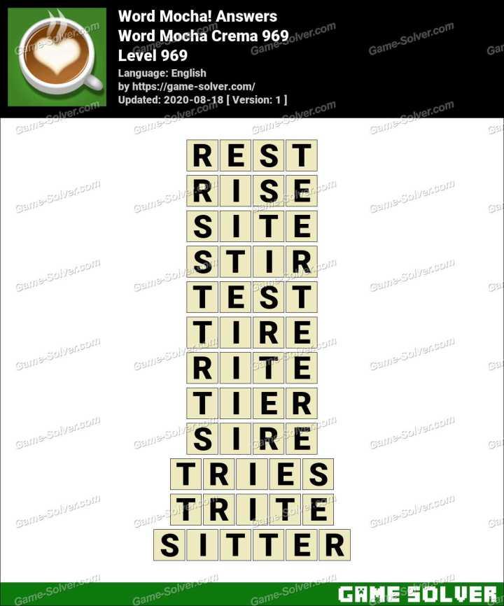 Word Mocha Crema 969 Answers