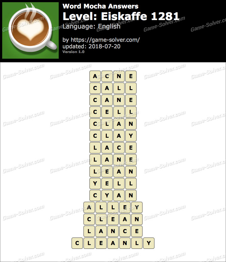 Word Mocha Eiskaffe 1281 Answers