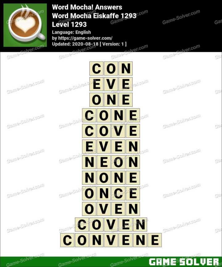Word Mocha Eiskaffe 1293 Answers