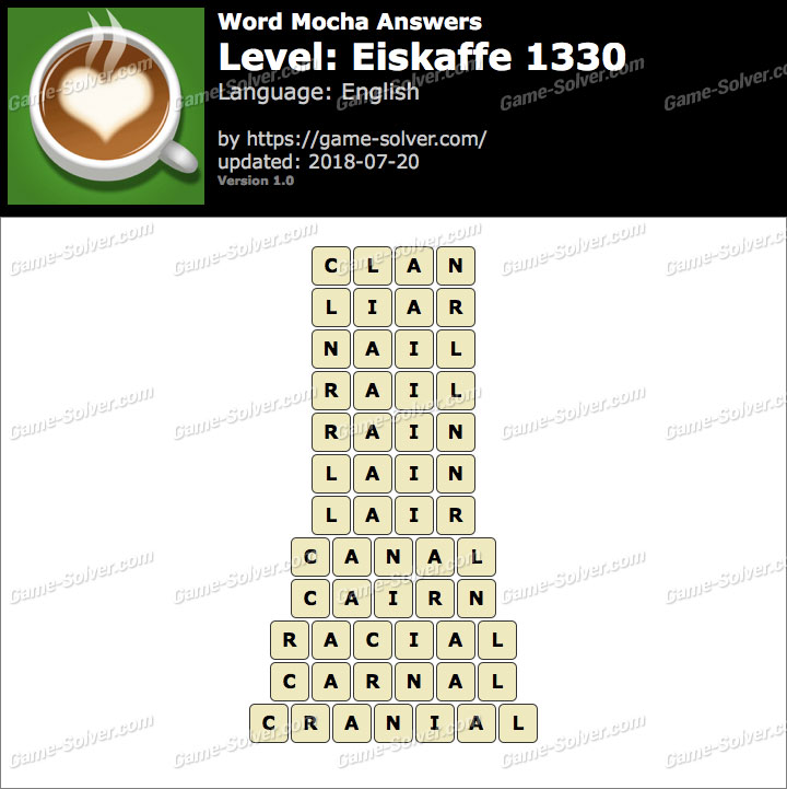 Word Mocha Eiskaffe 1330 Answers