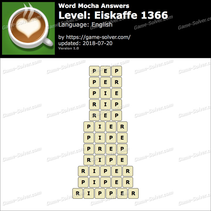 Word Mocha Eiskaffe 1366 Answers