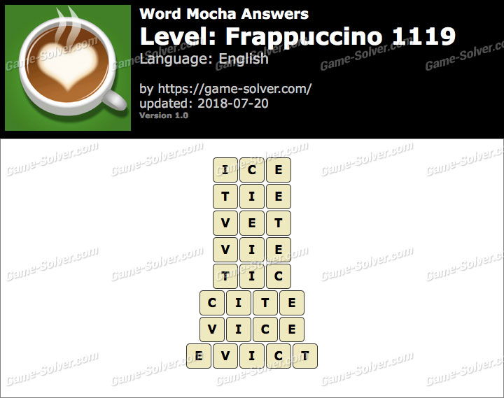 Word Mocha Frappuccino 1119 Answers