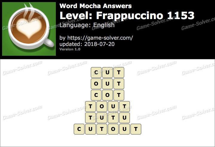 Word Mocha Frappuccino 1153 Answers