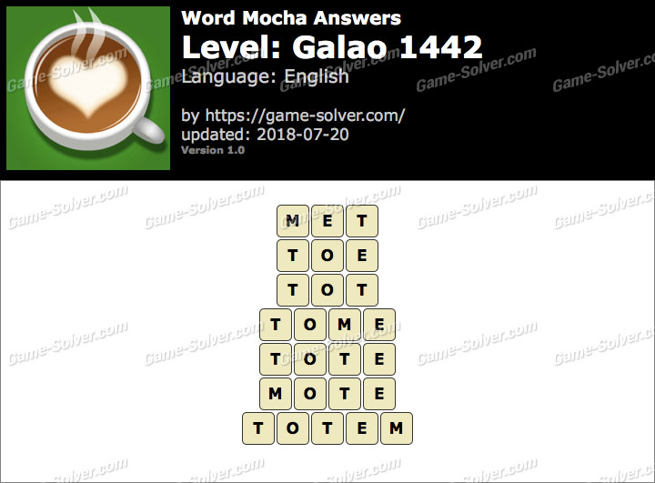 Word Mocha Galao 1442 Answers