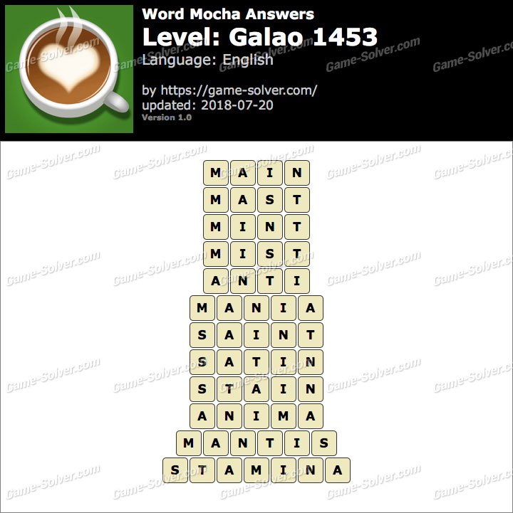 Word Mocha Galao 1453 Answers
