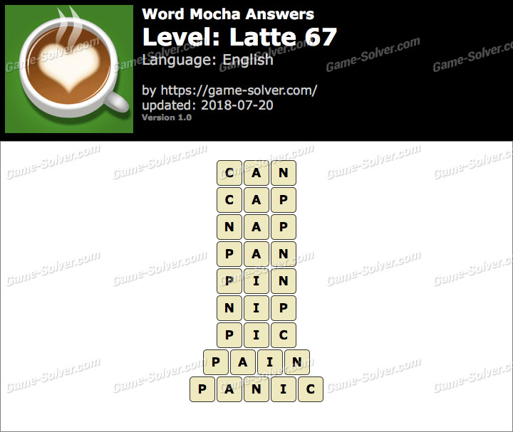 Word Mocha Latte 67 Answers