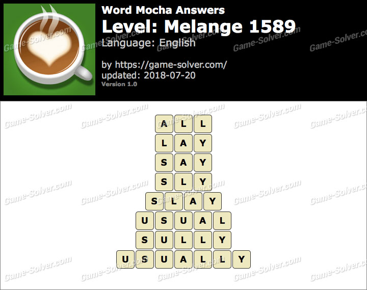 Word Mocha Melange 1589 Answers