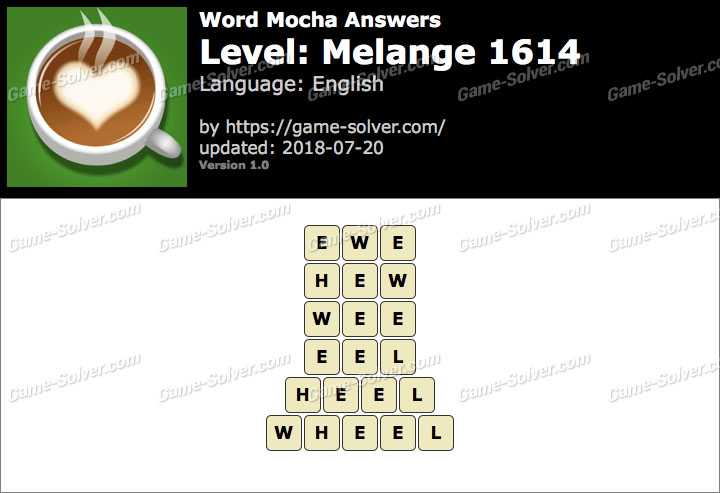 Word Mocha Melange 1614 Answers